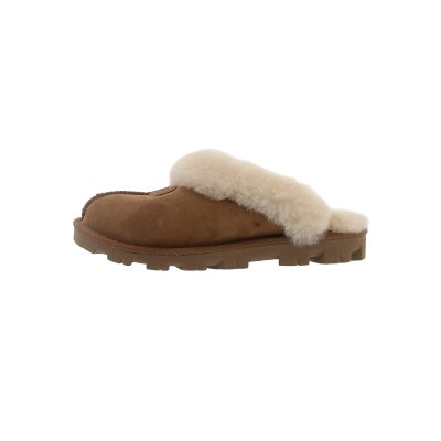 94b65f941a7 Women's COQUETTE chestnut sheepskin slippers