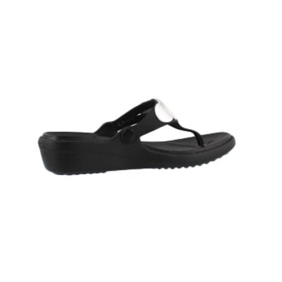 a2a894a6700 Crocs Women s SANRAH EMBELLISHED blk slv meta