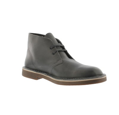 de91f7760b133 Clarks Men's BUSHACRE 2 grey leather desert b | Softmoc.com