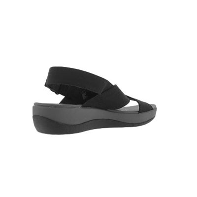 Clarks Women S Arla Kaydin Black Wedge Sandal Softmoc Com