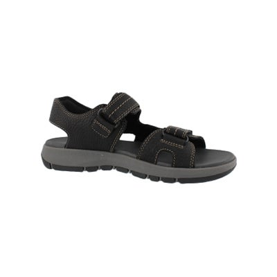 ae62298a4af Clarks Men s BRIXBY SHORE black casual sandal
