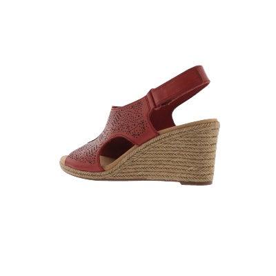 149fbc22a085c Clarks Women s LAFLEY ROSEN red wedge sandal
