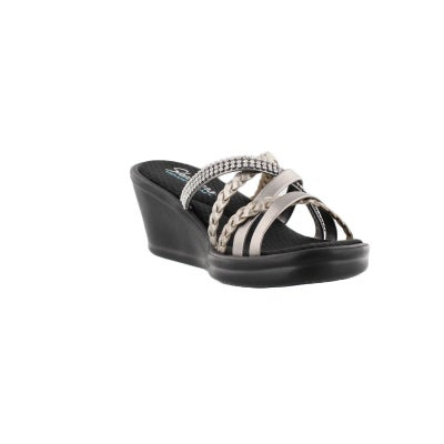 4885bfe2eeb5 Skechers Women s WILD CHILD pewter wedge sand