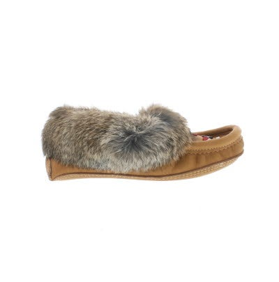 Softmoc Women S 671 Tan Rabbit Fur Moccasins