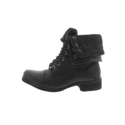 Softmoc Women S Bev Black Lace Up Fold Down Combat Boots