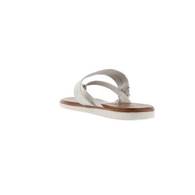 40961141ab07c6 Maddison Women s GISELLE white thong sandals