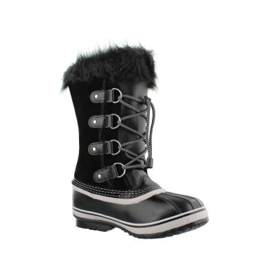 ec0f765bead1 Girls  JOAN OF ARCTIC black oyster winter boots