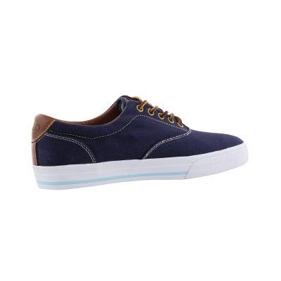 Polo men s vaughn navy canvas leather cvo sneakers