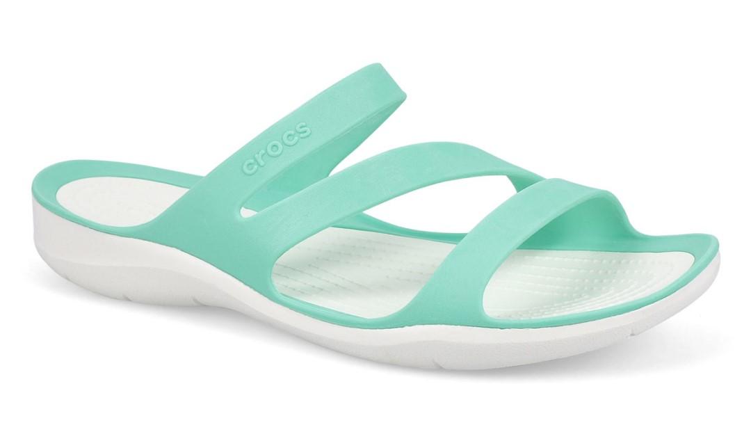 swiftwater aqua coloured croc sandal