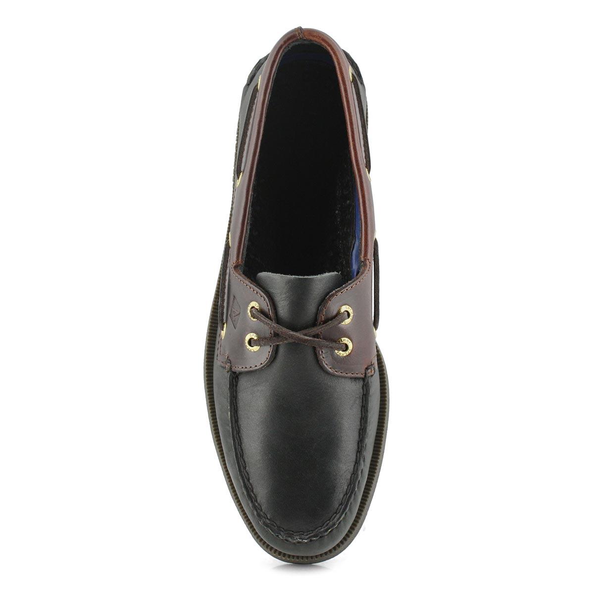 Men's Authentic Original Boat Shoe -Black/Amaretto