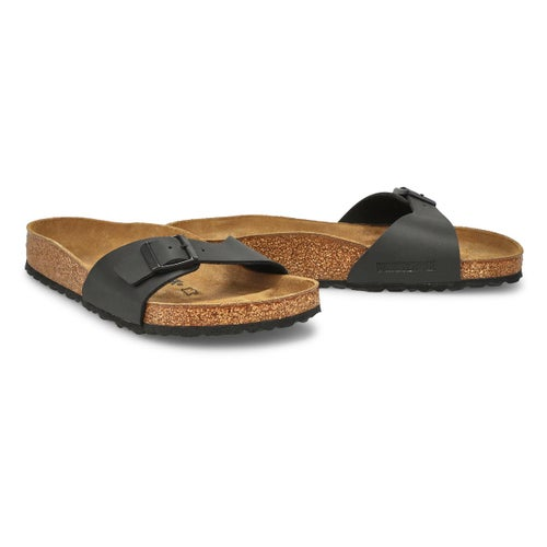 Sandale à 1 lanière Madrid BF, noir, fem