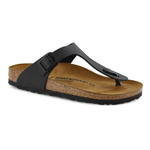 Lds Gizeh BF blk thong sandal- Narrow