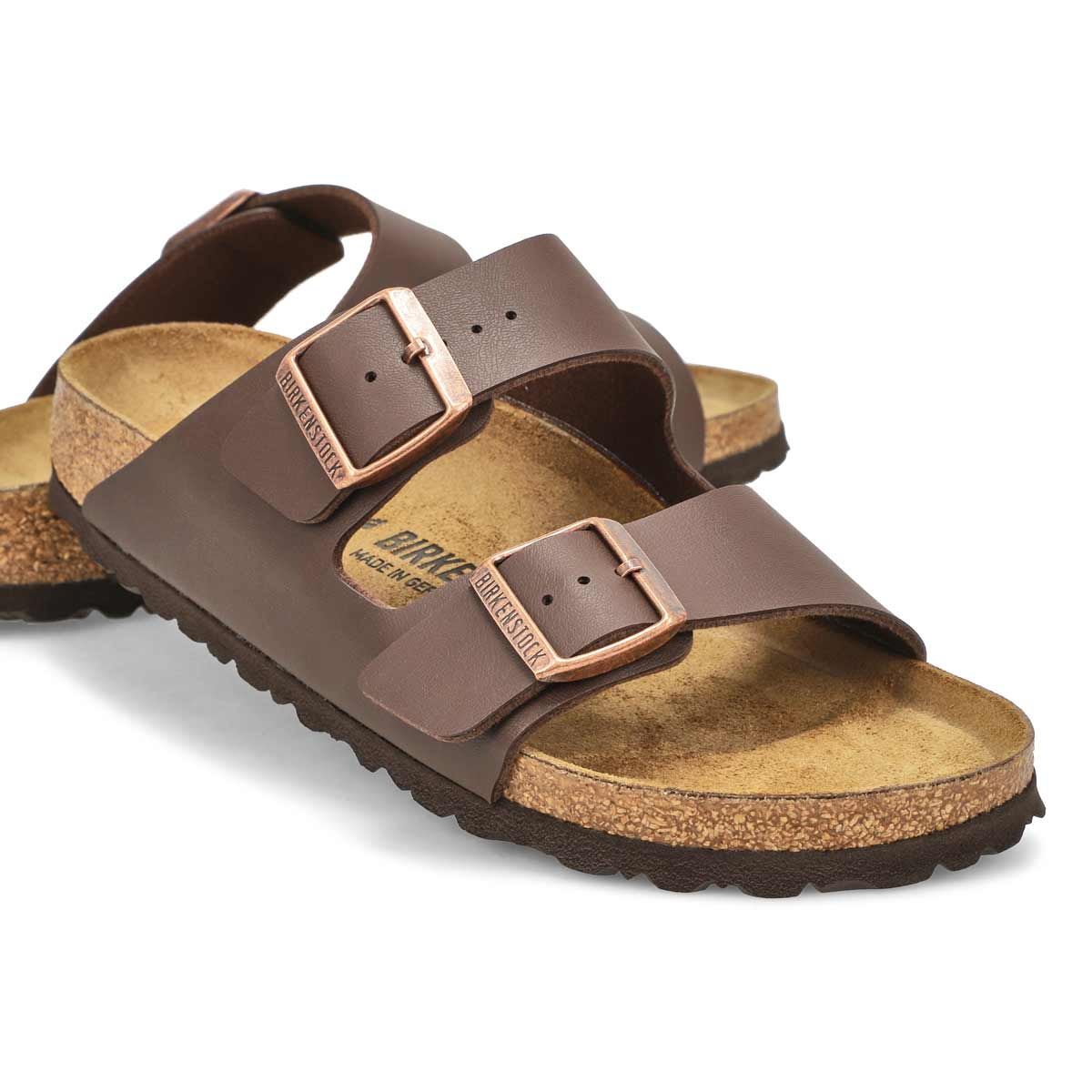 Sandale Arizona, modèle étroit,brun, fem