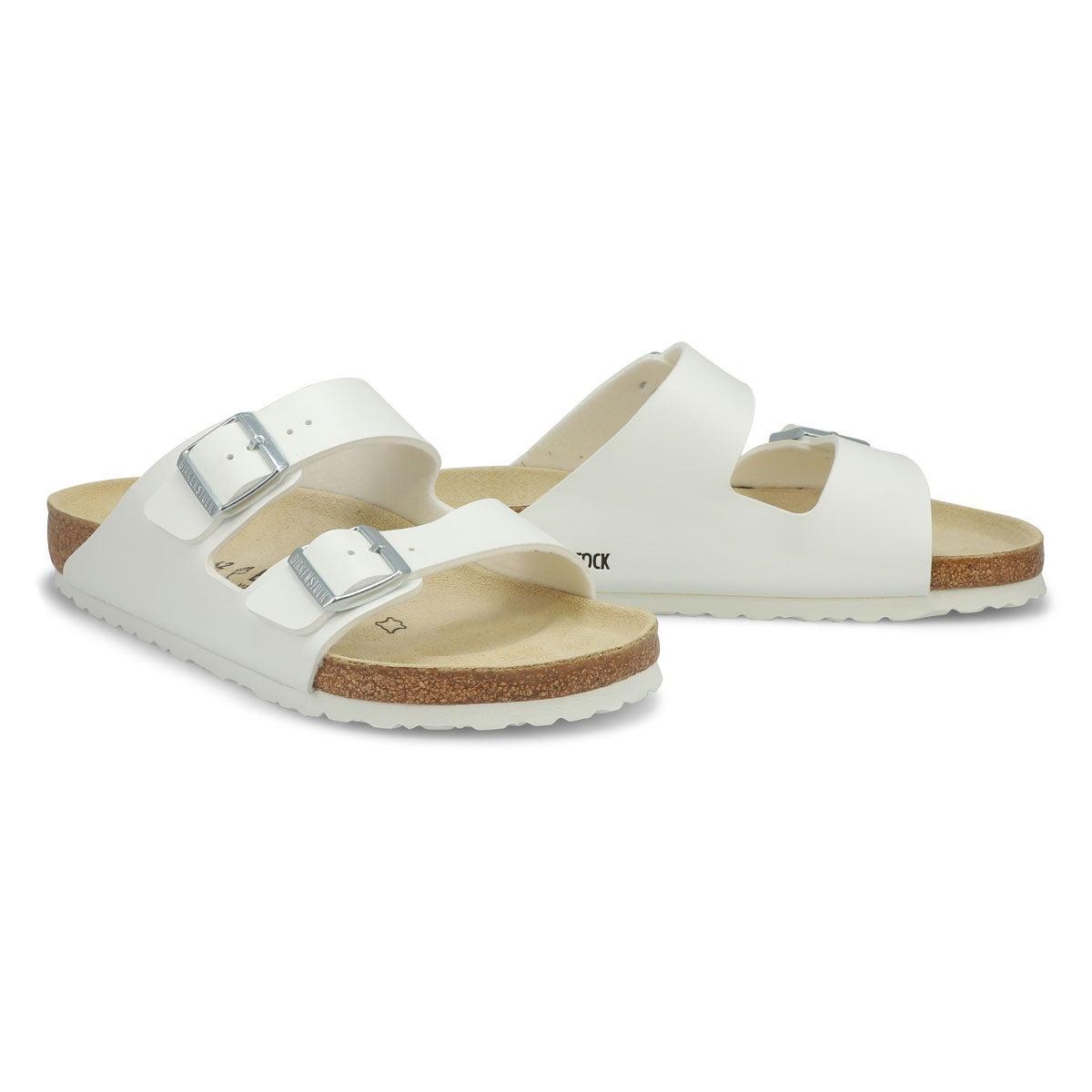 Sandale blanc ARIZONA, 2 brides, hommes