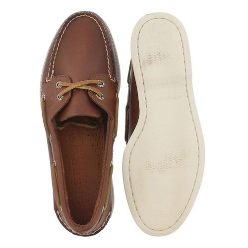 Mns A/O 2 eye tan boat shoe