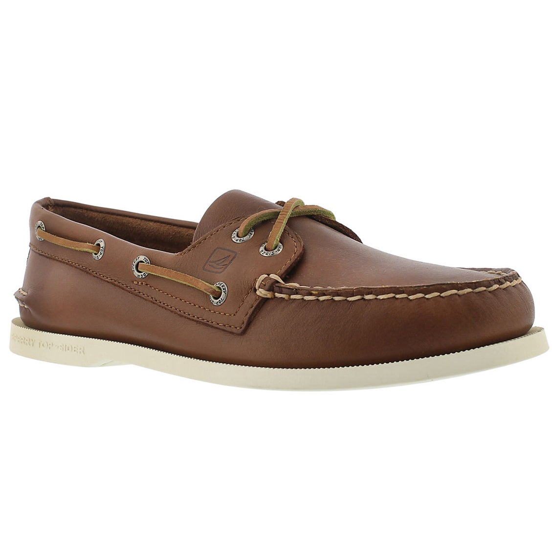Mns A/O 2 eye tan boat shoe