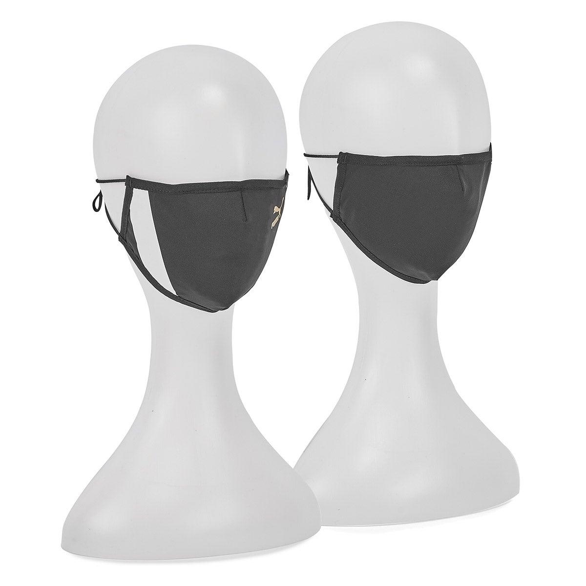 Unisex Puma Unity Face Mask - Black 2pk