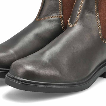 Unisex CHISEL TOE brown pull-on boots - UK SIZING