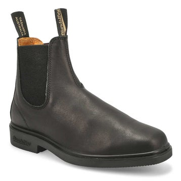 Unisex CHISEL TOE black pull-on boots - UK SIZING