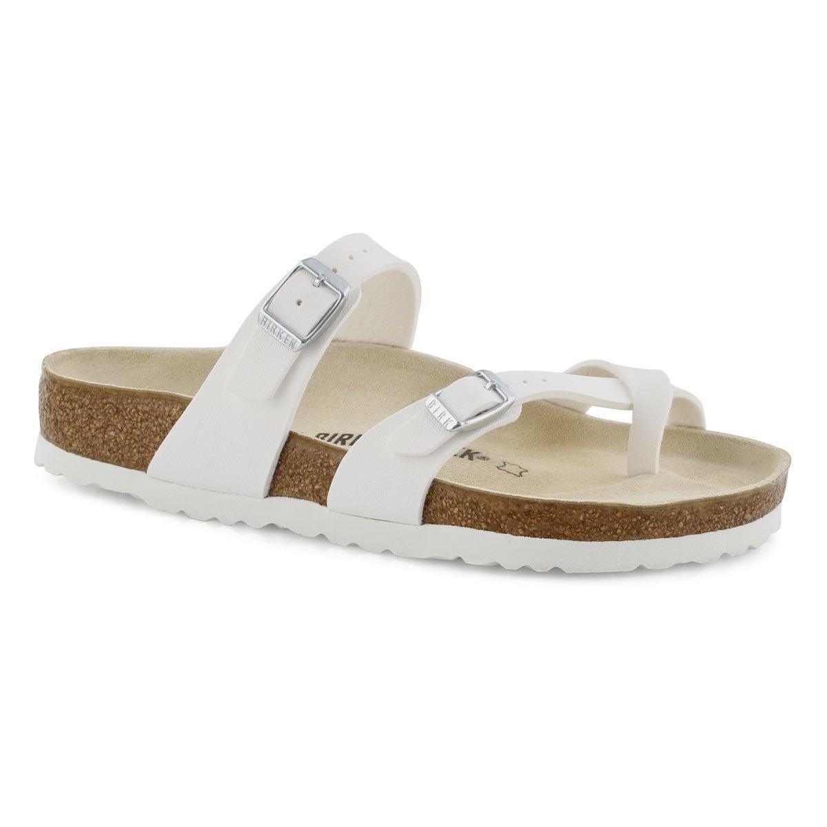 Sandales tongs Mayari, blanc, fem