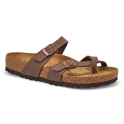 Birkenstock Women's MAYARI mocha adjustable toe loop sandals