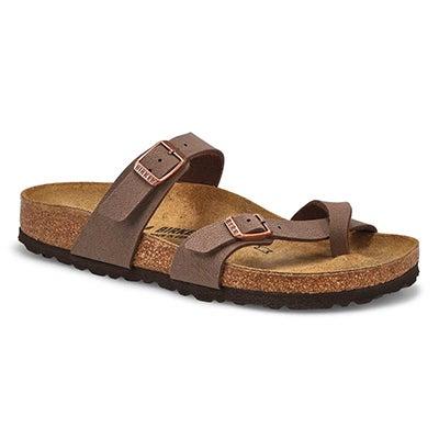 Lds Mayari BF Toe Narrow Sandal - Mocha