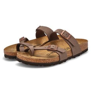Sandales à passe-orteil MAYARI, moka, fem.- étroit