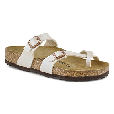 Women's MAYARI BF GRACE pearl wht thong sandals