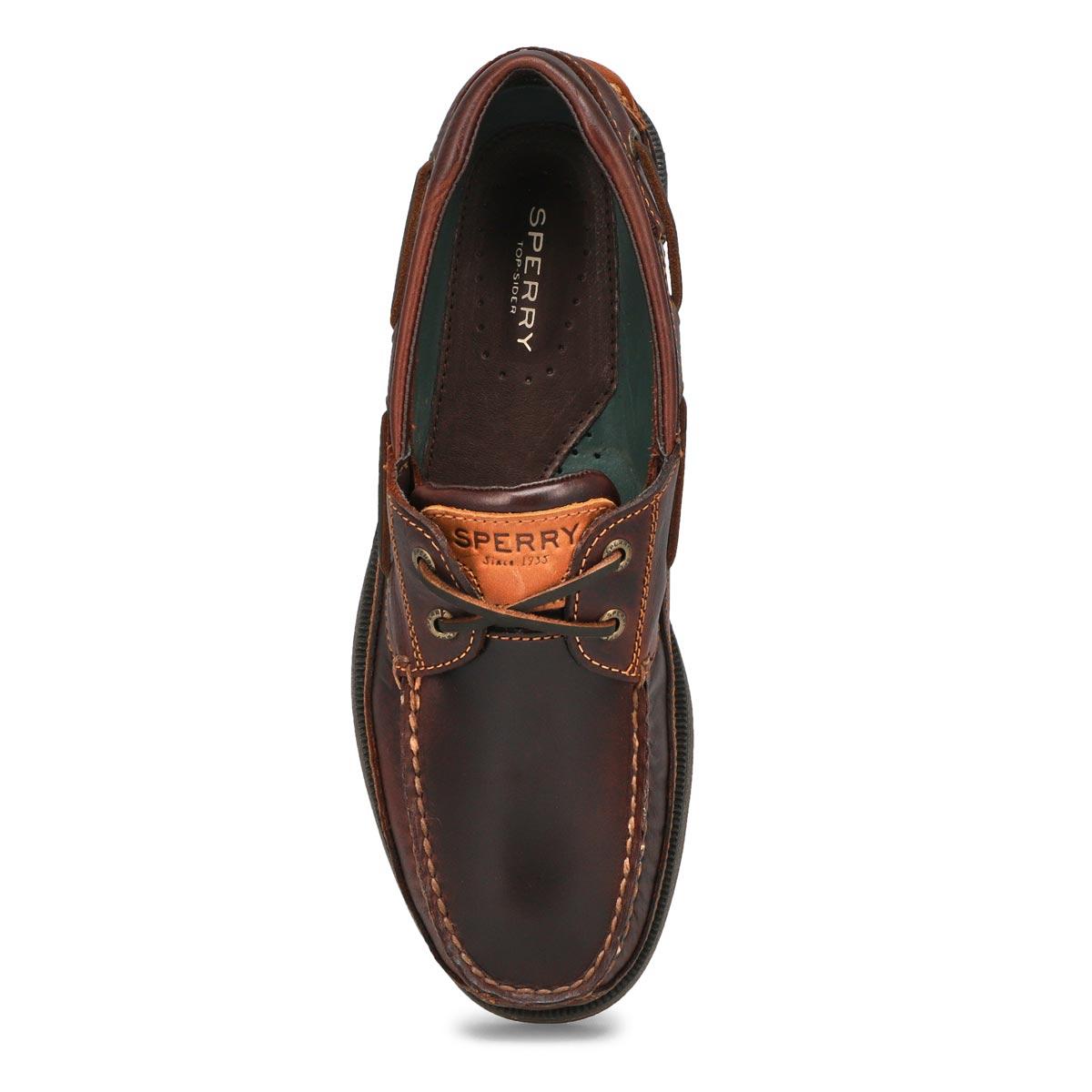 Chaussures bateau MAKO, cuir amaretto, hommes