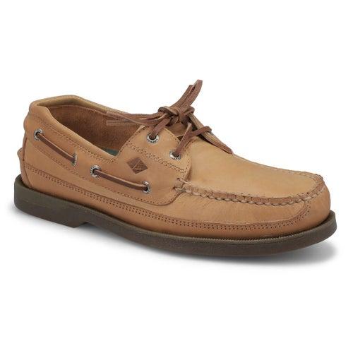 Chaussure bateau Mako, beige, homme