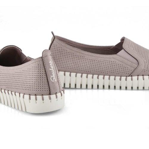 Lds Sepulveda Blvd lilac slip on sneaker