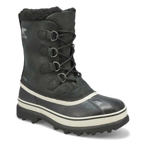 Mns Caribou blk/drk stone wtpf wntr boot