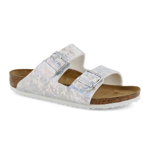 Grls Arizona BF silver 2 strap sandal-N