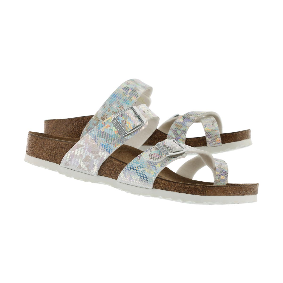 Girls' MAYARI BF hologram silver sandals