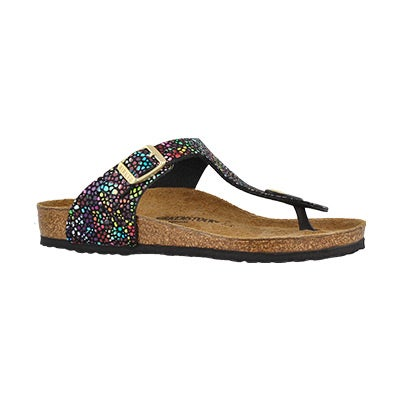 Girls' GIZEH BF orient mosaic blk thong sandals