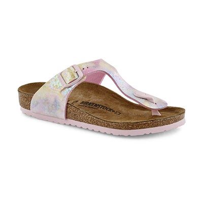 Girls' GIZEH BF watercolor  thong sandals