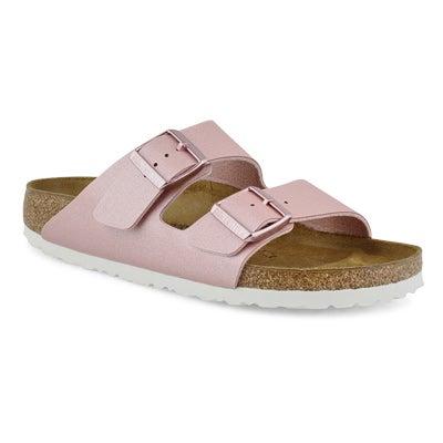 Women's ARIZONA BF mtlc rose 2-strap sandals