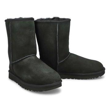 Women's CLASSIC SHORT II black sheepskin boots