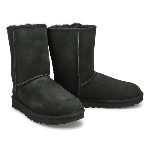 Lds Classic Short II blk sheepskin boot