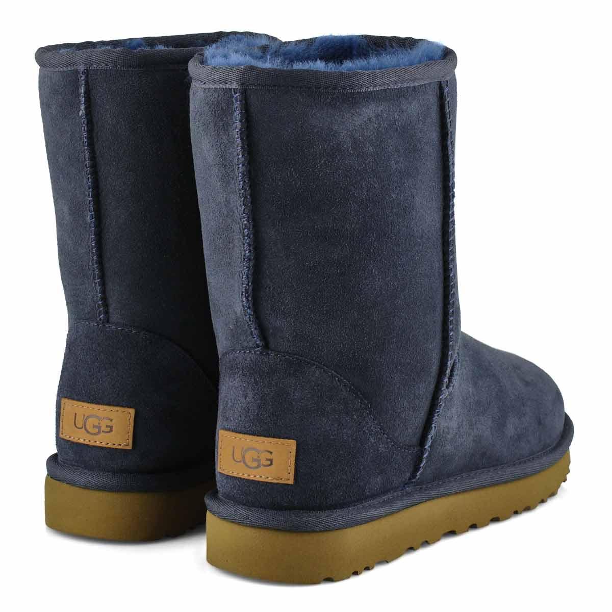 Women's Classic Short II Sheepskin Boot - Navy