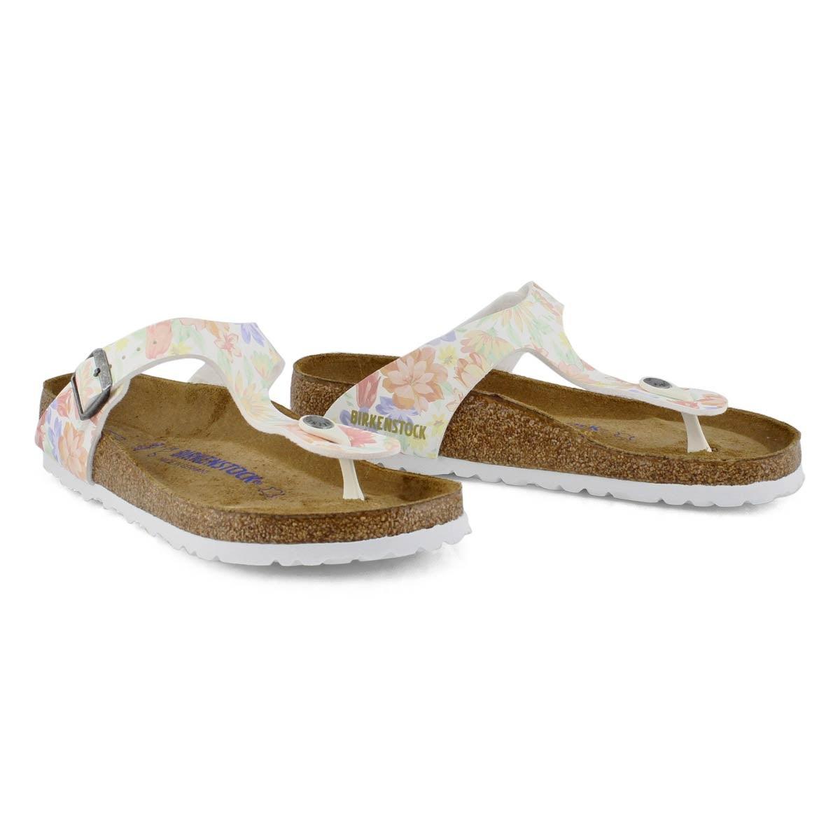Women's Gizeh SF Thong Sandal - Flower/White