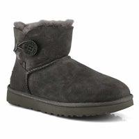Women's Mini Bailey Button II Sheepskin Boot - Gry