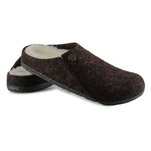 Lds Zermatt mocha shearling slipper