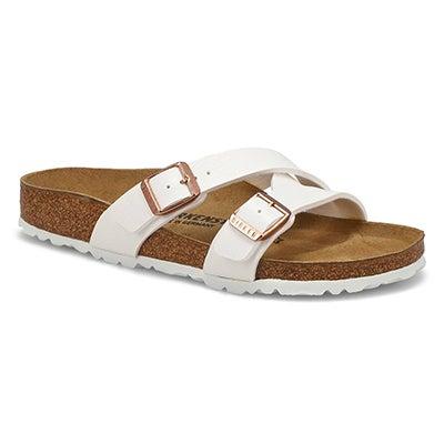Lds Yao 2 Strap Narrow Sandal  - White
