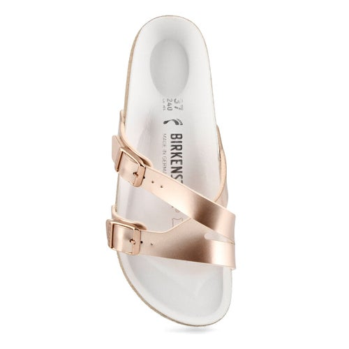 Lds Yao metallic copper 2 strap sandal-N