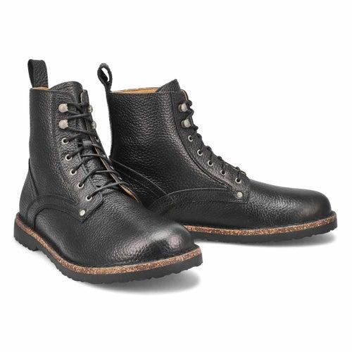 Mns Bryson black lace up combat boot