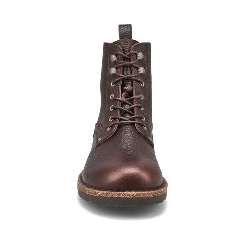 Mns Bryson ginger lace up combat boot