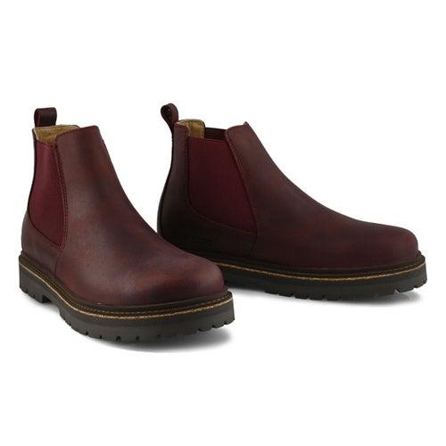 Lds Stalon burgundy chelsea boot-N