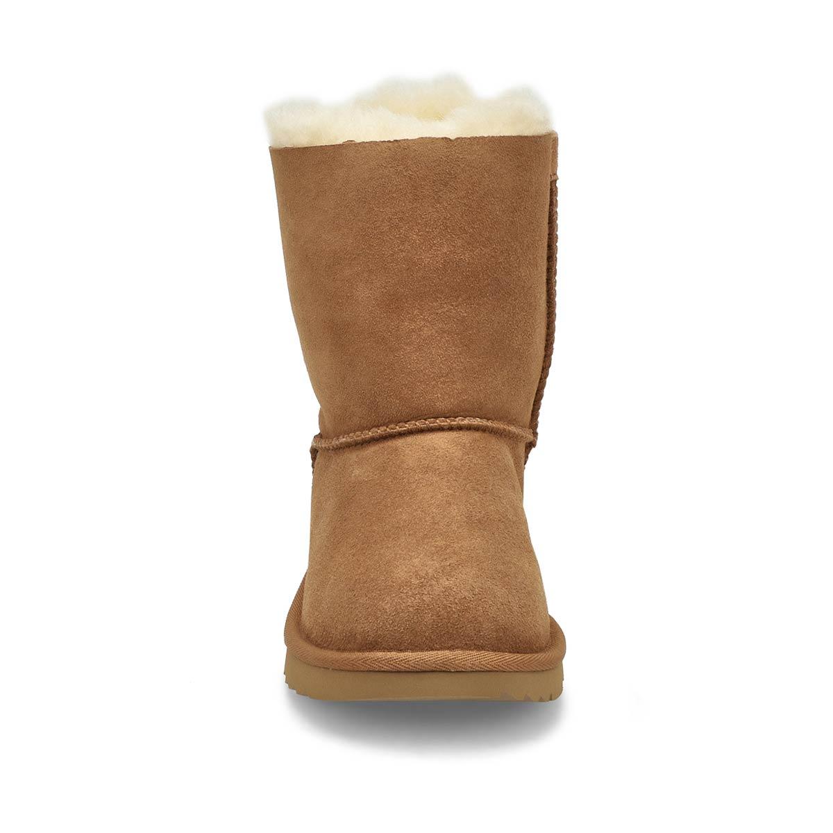 Girl's Bailey Bow II Sheepskin Boot - Chestnut