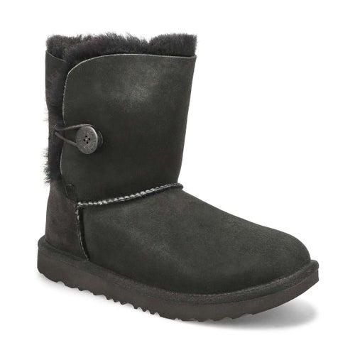 Grls Bailey Button II blk sheepskin boot